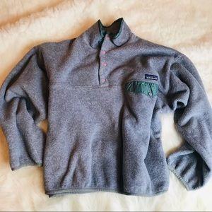 Patagonia Gray Fleece Pullover Jacket Large